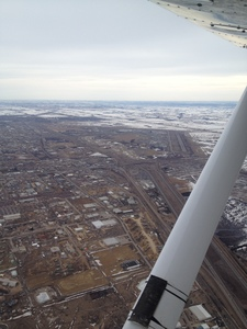 Approaching the Camrose airport.
