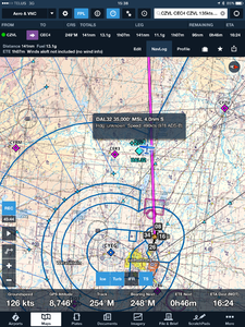 ForeFlight Capture of Nearby ADS-B Traffic