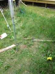 Antenna sitting on mount
